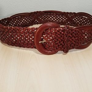 Nordstrom's brown braided belt leather medium